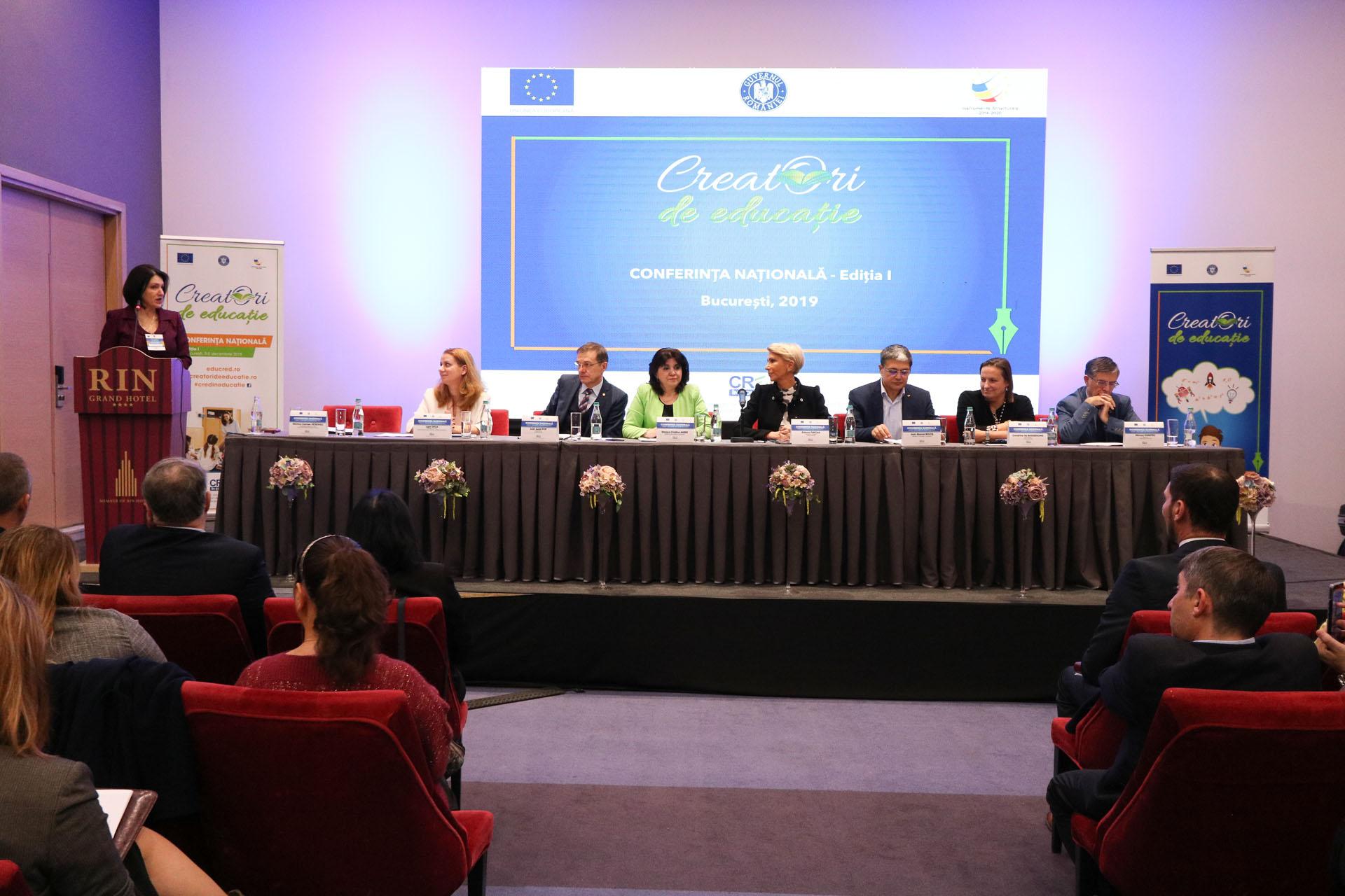 """Conferința națională """"Creatori de educație 2019"""" și gala de premiere a selecției naționale de bune practici"""